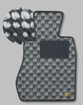 20 ウィッシュ | フロアマット【カロ】ウィッシュ 20系 フロアマット フラクシー H21/04~ リアゲートのみ