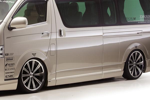 200 ハイエース ワイド   サイドステップ【レガンス】ハイエース 200系 ワイドボディ サイドカバー FRP製 4Drスーパーロング用 4型
