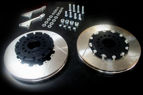 S2000 AP1/2 | ブレーキローター / フロント【エムアンドエム ホンダ】S2000 AP1/2 2ピースビッグブレーキローターKIT フロント/フローティングタイプ ベルハットアルマイトカラー:ブラック