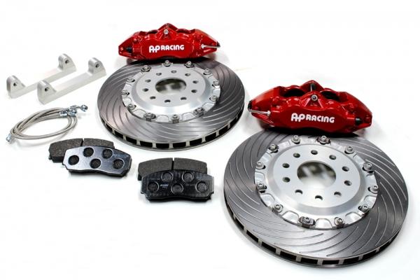 S2000 AP1/2 | ブレーキキット【エムアンドエム ホンダ】S2000 AP1/2 AP レーシングブレーキシステム タイプ4L330-32 /レッドモデル ベルカラー/シルバー