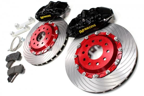 S2000 AP1/2 | ブレーキキット【エムアンドエム ホンダ】S2000 AP1/2 AP レーシングブレーキシステム タイプ4L330-32 /ブラックモデル ベルカラー/シルバー