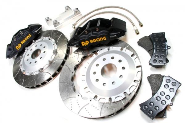 S2000 AP1/2 | ブレーキキット【エムアンドエム ホンダ】S2000 AP1/2 AP レーシングブレーキシステム タイプ6L355-32 /ブラックモデル ベルカラー/シルバー