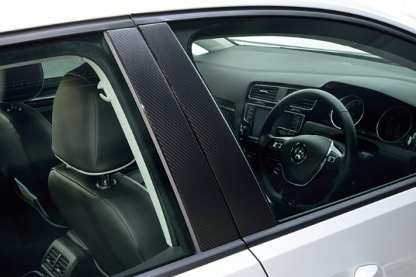 VW PASSAT B7 パサート B7 | その他 外装品【エムプラス】Passat SEDAN(3C/B7)カーボンピラーフィルム 6pcs
