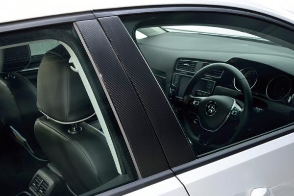 VW POLO 6R/6C | その他 外装品【エムプラス】POLO 6R カーボンピラーフィルム 4pcs