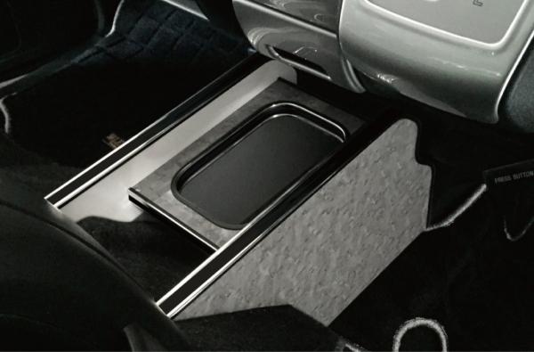 200 ハイエース 標準ボディ | インテリア その他【レガンス】ハイエース 200系 1-4型 センターコンソール装備車 インテリアダストボックス カラー:レザーブラック