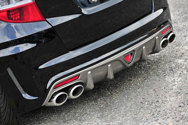 GE6-9 フィット | エキゾーストキット / 排気セット【ノブレッセ】フィット GE系 前期/後期 2WD タイプユーロバンパー専用左右4本出しマフラー 左右4本出し/タイプ1/ハーフステン/GE6 1300
