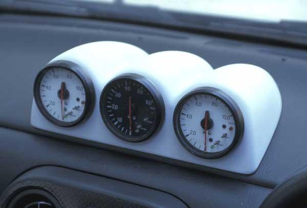 NA ロードスター | メーターカバー / メーターフード【ガレージベリー】ロードスター NA 3連メーターパネル 60φ FRP製