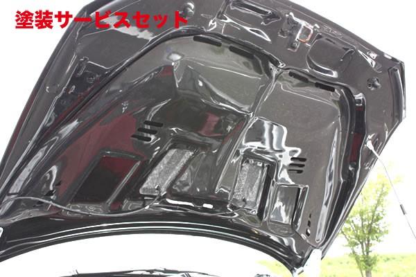 ★色番号塗装発送ランサーエボ 10 | ボンネットフード【ガレージベリー】ランサーエボ 10 レインガード FRP製