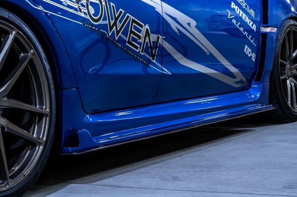 WRX VA STI S4 | サイドステップ【ロエン / トミーカイラ】WRX STI/S4 VAB/VAG サイドアンダーフラップ ウェットカーボン(クリア塗装済)