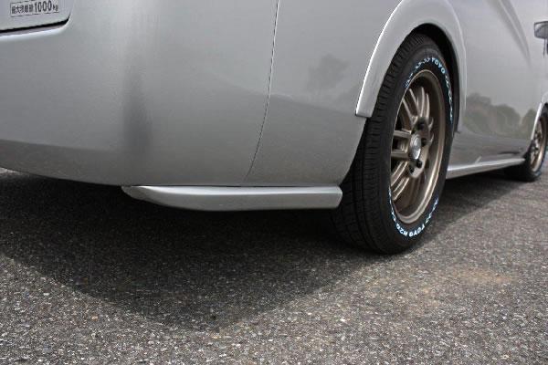E26 NV350 キャラバン ワイドボディ   リアマットガード / リアサイドスポイラー【ガレージベリー】NV350キャラバン E26 ワイドボディ リアプロテクター FRP製