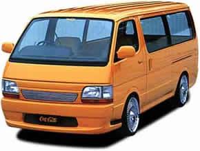 100 ハイエース   フロントバンパー【ボクシースタイル】ハイエース 100系 Club-Cargo Style フロントバンパー