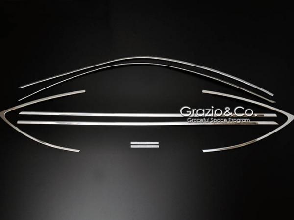 86 - ハチロク - | サイドバイザー / ドアバイザー【グラージオ】86 ZN6 ウインドウフレームガーニッシュ ブラッククローム調