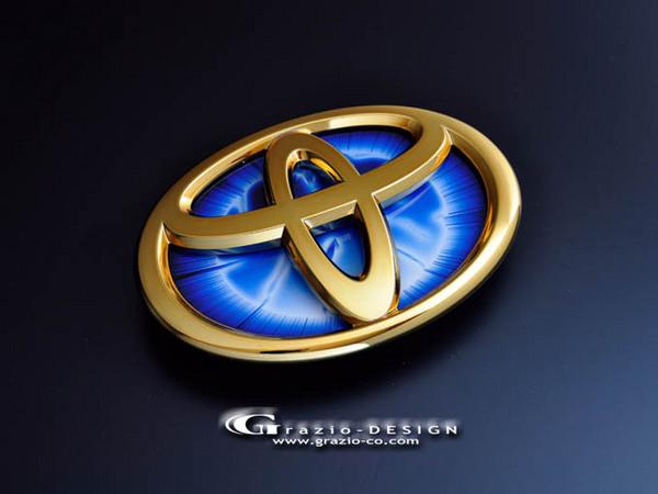 CP120 ラクティス   オーナメント / エンブレム【グラージオ】ラクティス 12系 ヒートブルーエンブレム EARTH ( リア用/W140)のみ ゴールド