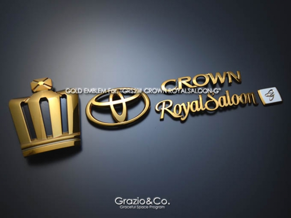 21 CROWN ROYAL   オーナメント / エンブレム   Grazio 21 クラウン ロイヤル CROWN ROYAL   オーナメント / エンブレム【グラージオ】クラウンロイヤル 21系 王冠4点SET G プレミアム オパール