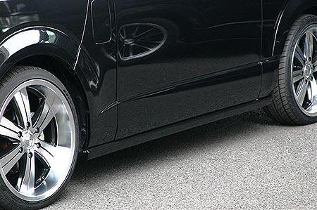 200 ハイエース ワイド | サイドステップ【ランド エアロテック】ハイエース 200系 ワイドボディ 乱人 SIDE STEP スーパーロング・左側スライドドア車用