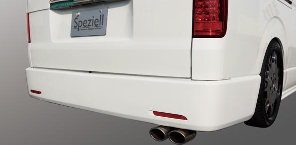 200 ハイエース   ステンマフラー【スペジール】ハイエース 200系 片側2本出しマフラー 2.0L ガソリン
