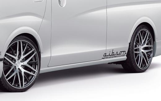 E26 NV350 キャラバン ワイドボディ   オーバーフェンダー / トリム【ギブソン】NV350キャラバン E26 ワイドボディ ブラインドフェンダー 左右前後セット