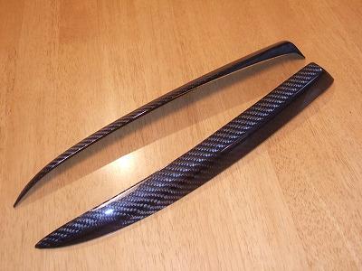 ALFA 156 | アイライン【シルキーシャークプロジェクト】156 後期型 アイライン Type2 ブラックカーボン 平織り クリア塗装済
