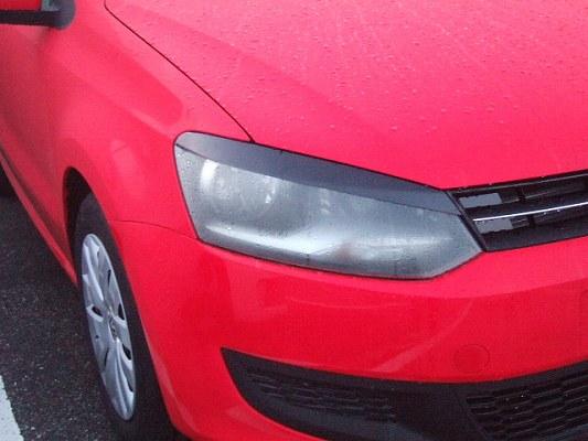 VW POLO 6R/6C | アイライン【シルキーシャークプロジェクト】VW POLO 6R アイライン FRP未塗装・黒ゲルコート仕上げ