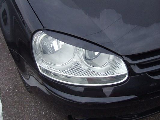 VW GOLF V | アイライン【シルキーシャークプロジェクト】VW GOLF V アイライン Type1 シルバーカーボン クリア塗装済み
