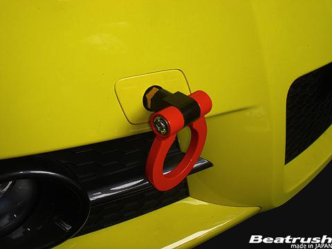 ZC11/21/31/71 スイフト | 牽引フック【レイル / ビートラッシュ】スイフト スポーツ ZC31S けん引フック スイングタイプ FRONT レッド