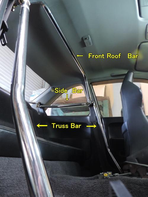 R33 GT-R | 補強パーツ / 室内【ネクスト】スカイライン GT-R R33 ミラクルクロスバー用アップグレードキット 35Ф サイドバー 左右