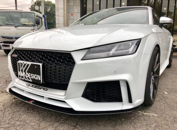 Audi TT 8S | フロントリップ【ネクストイノベーション】アウディ TT RS 8S フロントアンダースポイラー グロスブラック
