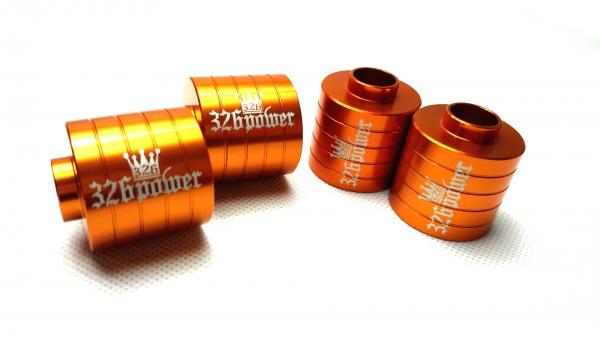 30 セルシオ | ロールセンターアダプター【ミツルパワー】セルシオ 30系 フロント用 R.C.A ロールセンター 35mm カラー:オレンジ