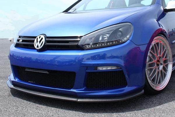 VW GOLF V | フロントリップ【ブーメラン】GOLF V 6R スタイルバンパー&オーバーフェンダーキット専用フロントリップスポイラー カーボン製