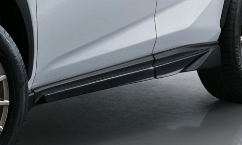 レクサス NX | サイドステップ【ティーアールディー レクサス】レクサス NX 10系 後期 サイドスカート 塗装済 グラファイトブラックガラスフレーク (223)