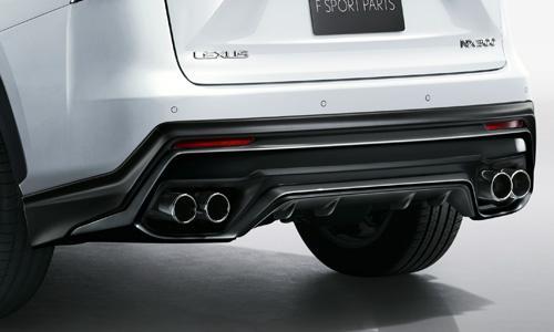 レクサス NX | エアロ(リア)/マフラーセット【ティーアールディー レクサス】レクサス NX300h 10系 後期 リアディフューザー&スポーツマフラー 塗装済 ブラック (212)