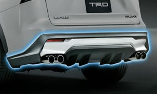 レクサス NX | エアロ(リア)/マフラーセット【ティーアールディー レクサス】レクサス NX300h 10系 前期 リアディフューザー&スポーツマフラー BLACK EDITION (黒塗装)