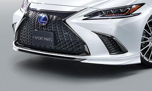 LEXUS ES AX | フロントリップ【ティーアールディー レクサス】レクサス ES300h 10系 フロントスポイラー 塗装済 ホワイトノーヴァガラスフレーク (083)