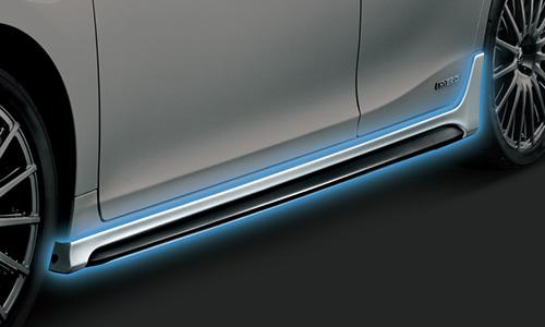 LEXUS CT200h | サイドステップ【ティーアールディー レクサス】レクサス CT200h F SPORT 10系 中期(2014/1-2017/7) サイドスカート 素地 (未塗装)