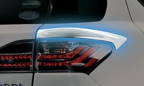 LEXUS CT200h | リアガーニッシュ / リアグリル【ティーアールディー レクサス】レクサス CT200h F SPORT 10系 中期(2014/1-2017/7) クォーターパネルスポイラー 塗装済 ブラック (212)