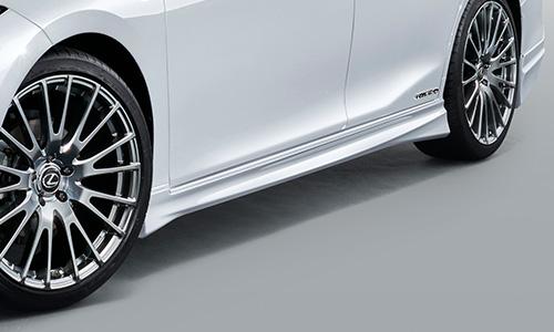 LEXUS ES AX | サイドステップ【ティーアールディー レクサス】レクサス ES300h 10系 サイドスカート 塗装済 ホワイトノーヴァガラスフレーク (083)