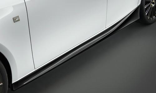 LEXUS IS 30 | サイドステップ【ティーアールディー レクサス】レクサス IS 30系 後期(2016/10-) サイドスカート 塗装済 ブラック (212)