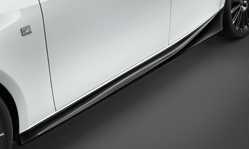LEXUS IS 30 | サイドステップ【ティーアールディー レクサス】レクサス IS 30系 後期(2016/10-) サイドスカート 塗装済 ホワイトノーヴァガラスフレーク (083)