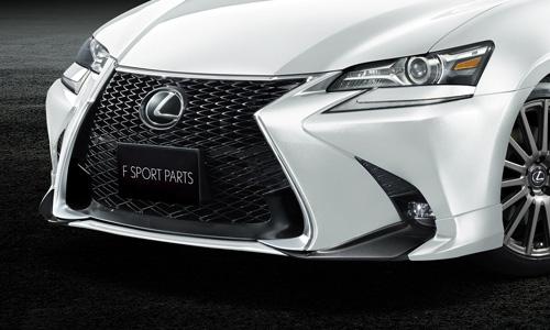 LEXUS GS 10 | フロントリップ【ティーアールディー レクサス】レクサス GS F SPORT 10系 後期(2015/11-) フロントスポイラー 塗装済 グラファイトブラックガラスフレーク (223)