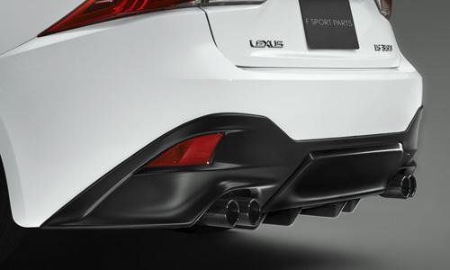 LEXUS IS 30 | エアロ(リア)/マフラーセット【ティーアールディー レクサス】レクサス IS300h 30系 後期(2016/10-) AWD車 リアディフューザー&スポーツマフラー 素地 (未塗装)