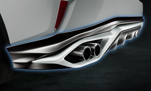 LEXUS RX 200/450 GL2#   エアロ(リア)/マフラーセット【ティーアールディー レクサス】レクサス RX300/RX200t 20系 前期(2015/10-2019/8) リアディフューザー&スポーツマフラー 塗装済 グラファイトブラックガラスフレーク (223)