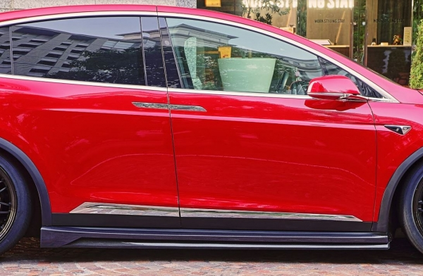 サイドステップ【シーイーラプター】TESLA Model X サイドステップ FRP製 未塗装品