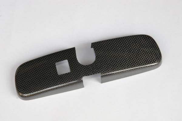 GT-R R35 | ルームミラー【アールエスダブリュ】GT-R R35 ルームミラーパネル 平織ブラックカーボン製 (メーカーデュポンクリア塗装仕上げ)