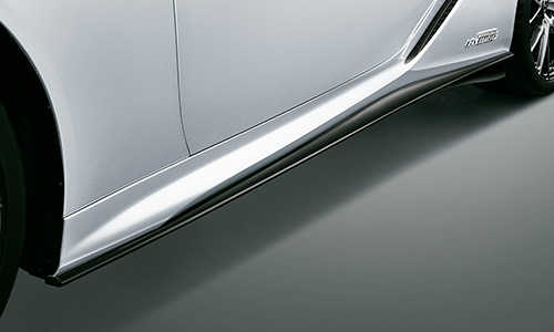 LEXUS LC   サイドステップ【ティーアールディー レクサス】レクサス LC500h/LC500 100系 (2019/9-) サイドスカート 塗装済 ホワイトノーヴァガラスフレーク (083)