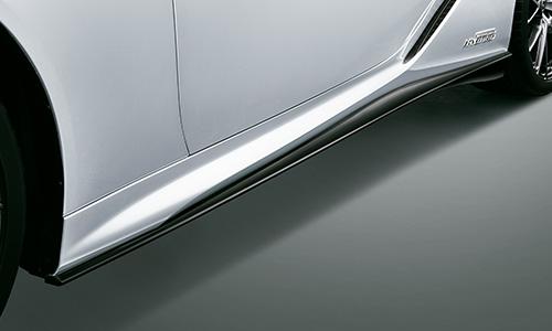 LEXUS LC | サイドステップ【ティーアールディー レクサス】レクサス LC500h/LC500 100系 (2019/9-) サイドスカート 塗装済 ブラック (212)