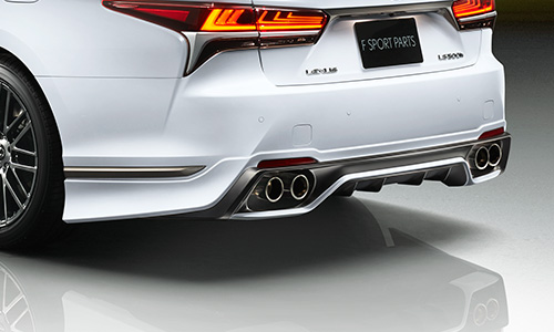 レクサス LS VXFA5# / GVF5# | エアロ(リア)/マフラーセット【ティーアールディー レクサス】レクサス LS500h 50系 リアディフューザー&スポーツマフラー 塗装済 ブラック (212)