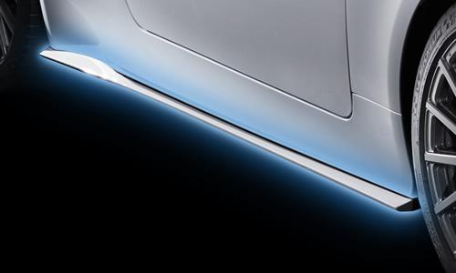 レクサス RC | サイドステップ【ティーアールディー レクサス】レクサス RC 10系 前期(2014/10-2018/10) サイドスカート 塗装済 グラファイトブラックガラスフレーク (223)