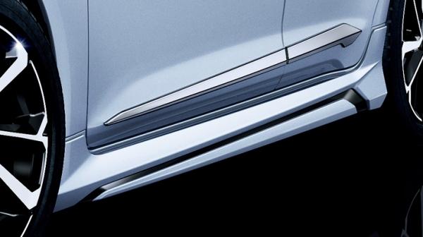 カローラ 210 | サイドステップ【トヨタモデリスタ】カローラ/カローラツーリング 210系 MODELLISTAサイドスカート 塗装済ブラックマイカ