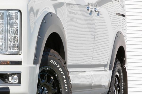 D5 デリカ | フェンダーガーニッシュ【ジャオス】デリカ D:5 CV1W JAOS フェンダーガーニッシュ type-X 塗装品 マットブラック