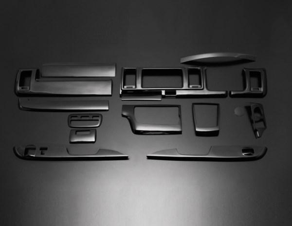 200 ハイエース 標準ボディ | インテリアパネル【フェガーリ】【送料無料!!】ハイエース 200系 4型/5型 S-GL 標準ボディ ハイグレード インテリアパネル 15ピース ピアノブラック